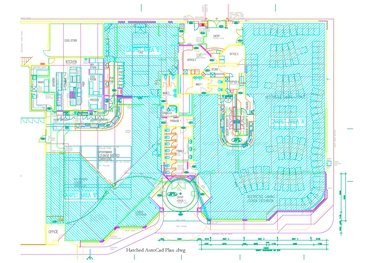 Hatched AutoCad .dwg plan